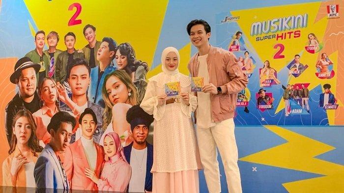 Rey Mbayang dan Dinda Hauw Senang Lagunya Masuk Album Kompilasi Musikini Superhits 2