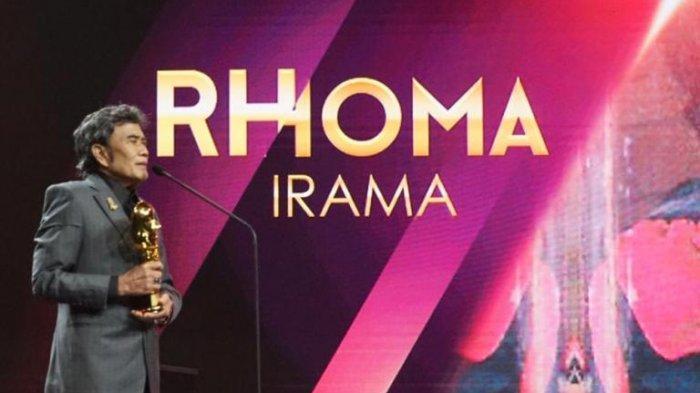 Raja Dangdut Rhoma Irama menerima penghargaan khusus di Indonesian Movie Actors Awards 2020 di Studio RCTI+, Kebon Jeruk, Jakarta Barat, Sabtu (25/7/2020).
