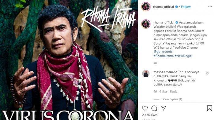 Penyanyi legendaris Rhoma Irama tetap eksis di tengah pandemi virus corona.