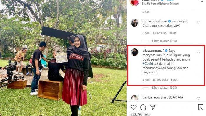 Triawan Munaf Tegur Ria Ricis Via Instagram, Saya Menyesalkan Public Figure Tidak Sensitif