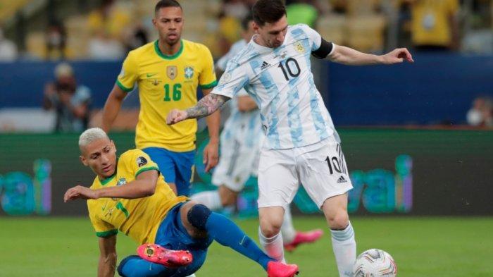 Sedang Berlangsung Argentina vs Brasil 1-0, Gol Indah Angel Di Maria Menit 22