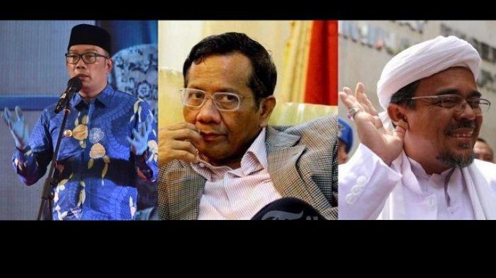Opini Pribadi Ridwan Kamil Menyebut Mahfud MD Harus Bertanggung Jawab Soal Kasus Acara Rizieq Shihab