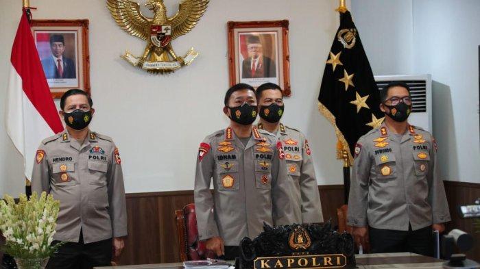Rilis akhir tahun Kapolri Jenderal Idham Azis selama 2020 yang digelar secara virtual, di Gedung Bareskrim Polri, Jakarta Selatan, Selasa (22/12/2020).