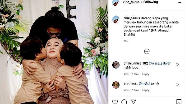 Ririe Fairus dan Ayus Sabyan, benarkah retaknya rumah tangga mereka karena Nissa Sabyan?