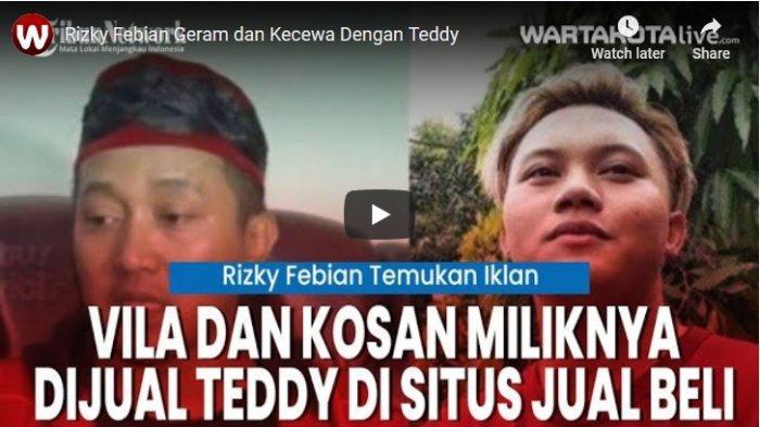 VIDEO Rizky Febian Geram dan Kecewa dengan Teddy, Properti yang Menjadi Haknya Dijual