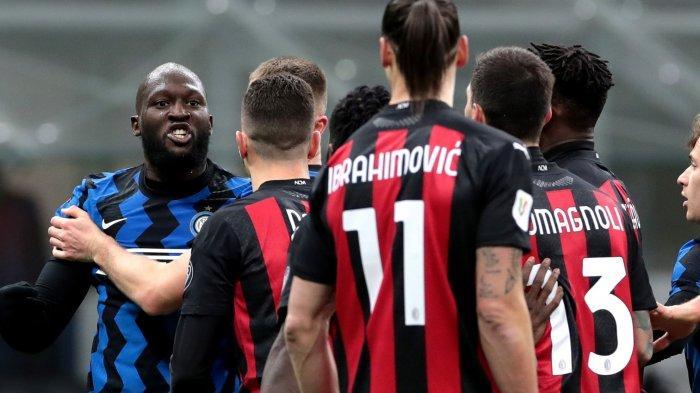Live Streaming dan Prediksi Line Up AC Milan vs Inter Milan, Laga Panas Ibrahimovic vs Romelu Lukaku
