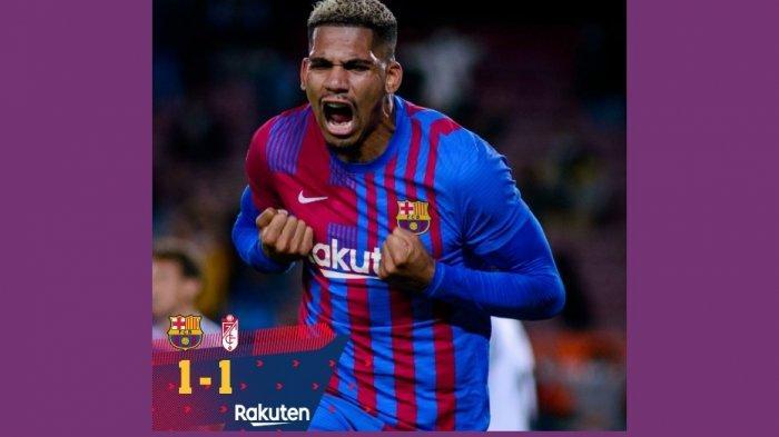 Ronald Araujo Selamatkan Barcelona dari Kekalahan Lawan Granada 1-1, Peringkat Naik ke Posisi 7
