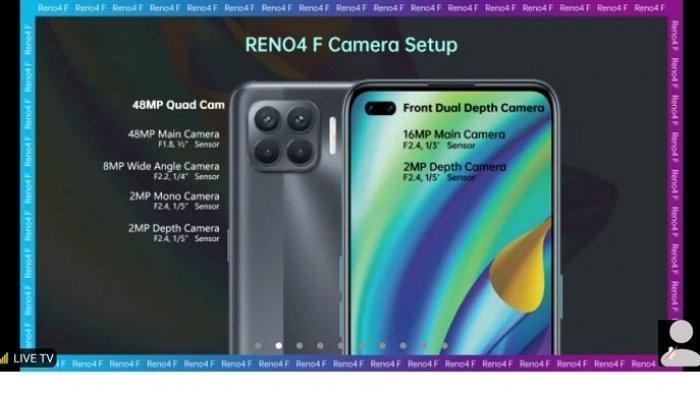 12 Oktober Oppo Reno4 F Meluncur, Punya 6 Kamera dan Bodi yang Lebih Tipis dari Reno4, Harganya?