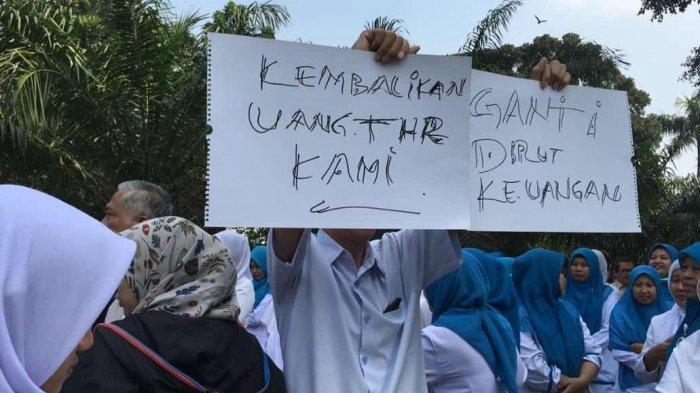 Ratusan Karyawan RS Fatmawati Gelar Unjuk Rasa Tuntut THR, Karyawan Merasa Dibohongi Manajemen