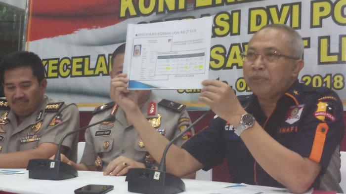 RS Polri Berhasil Identifikasi Satu Jenazah Perempuan Korban Pesawat Lion Air JT 610