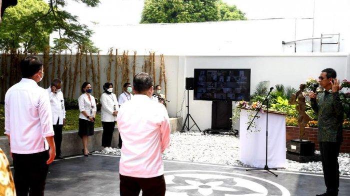 Ruang Konservasi Benda Seni yang ada di Istana Kepresidenan Jakarta untuk menjaga dan merawat koleksi benda seni yang memiliki jumlah serta kualitas yang tinggi