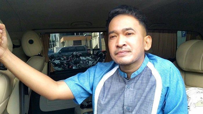 Presenter Ruben Onsu di kawasan Mampang Prapatan, Jakarta Selatan, Senin (12/7/2021).