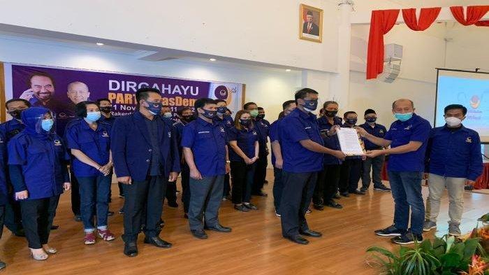 Saan Mustopa Perintahkan Kader Nasdem Depok Kerja Keras Menangkan Pradi-Afifah di Pilkada Depok