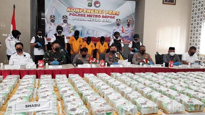 BREAKING NEWS: Polrestro Depok Bongkar Jaringan Narkoba Internasional, Barang Bukti 258 Kg Sabu