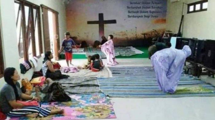Viral Keindahan Toleransi Beragama di Sebuah Posko Banjir Sekaligus Gereja di Kudus, Netizen Terharu