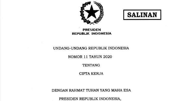 Kasih Naskah Cacat UU Cipta Kerja untuk Diteken Jokowi, Pejabat Kemensetneg Kena Sanksi Disiplin