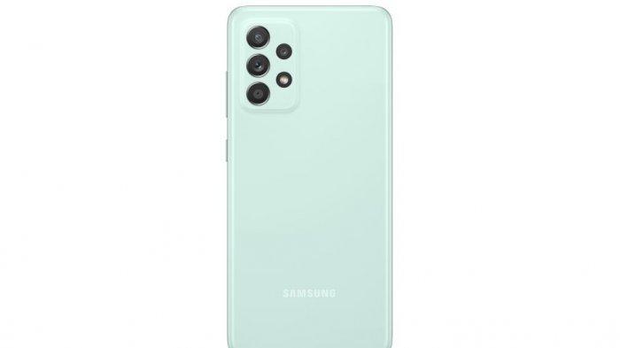 Tampak bagian belakang Samsung Galaxy A52s 5G dengan empat kamera dibelakang dengan kamera utama 64 MP