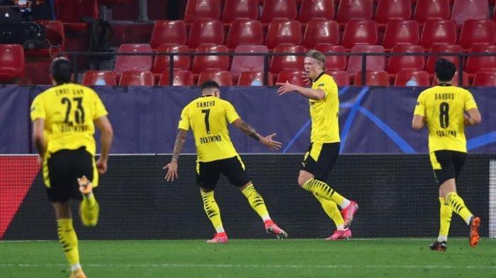 Hasil Babak Pertama Sevilla vs Dortmund 1-3, Erling Halland Benar-Benar Bikin Momok Tuan Rumah
