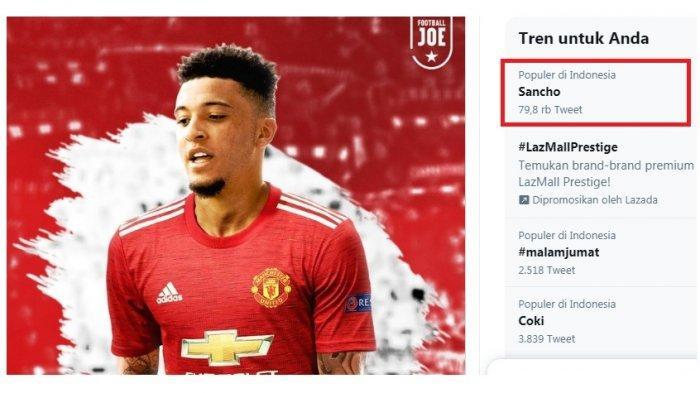 Profil Jadon Sancho, Trending Topic Meski Baru Ditawar Manchester United dari Borrussia Dortmund