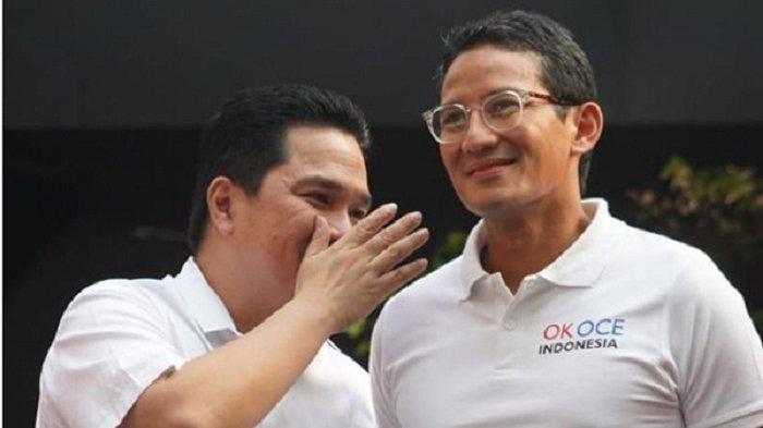 Tahu Kapasitas Erick Thohir, Sandiaga Uno Ingin Erick Jadi Menteri Jokowi
