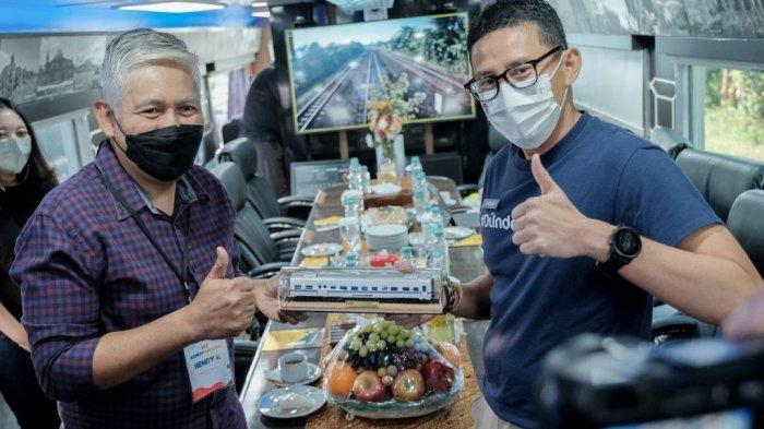 Jajal Kereta Istimewa, Sandiaga Uno: Inovasi Jadi Bukti Penciptaan Peluang Usaha dan Lapangan Kerja
