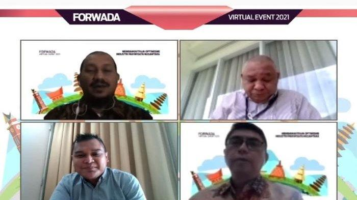 """Sandiaga Uno dalam diskusi virtual Forwada (Forum Wartawan Daerah) bertajuk """"Membangkitkan Optimisme Industri Pariwista Nusantara"""