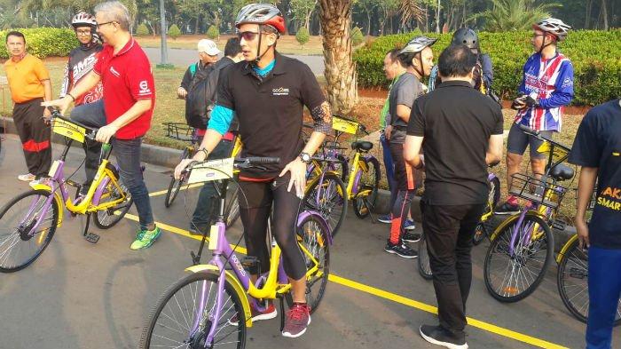 Unduh Aplikasi Gowes, Pengunjung Bisa Bersepeda Keliling Monas Gratis