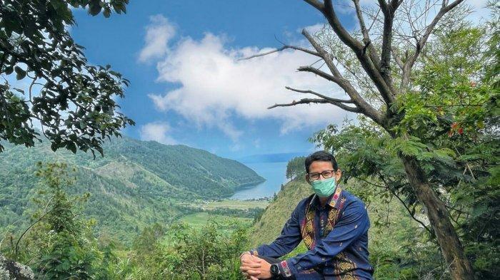 VIDEO Kunjungan Kerja ke Danau Toba Sandiaga Uno Temukan Potensi Wisata Alam Bernama Adian Nalambok