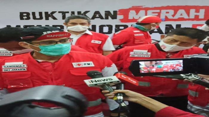 Stok Darah di PMI Turun, Sandiga Uno Ajak Warga Donor Darah Jelang HUT RI ke-75