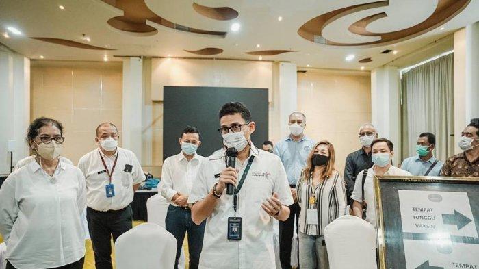 Bangkitkan Sektor Parekraf, Sandiaga Uno Bakal Hadirkan Pusat Vaksinasi Covid-19 di Desa Wisata
