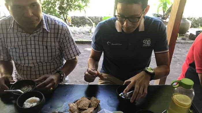 Sarapan Soto di Yogyakarta, Sandiaga Uno Temukan Tempe Setebal Lima Kartu ATM Digabung