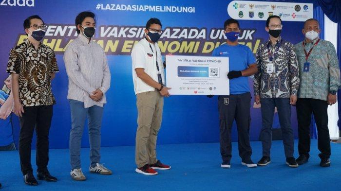 Buka Peluang Usaha & Lapangan Kerja, Sandiaga Uno Dukung Vaksinasi Pejuang Digital E-commerce