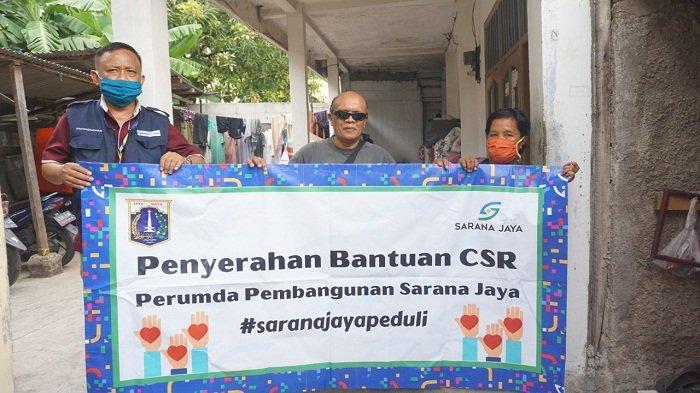 Lanjutkan Aksi CSR untuk Warga Terdampak Covid, Sarana Jaya Salurkan Paket Sembako bagi Tunanetra