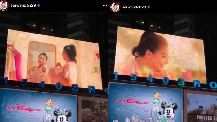 Sarwendah Tan Muncul di Billboard Raksasa di Times Square New York, Seperti Mimpi yang Menjadi Nyata