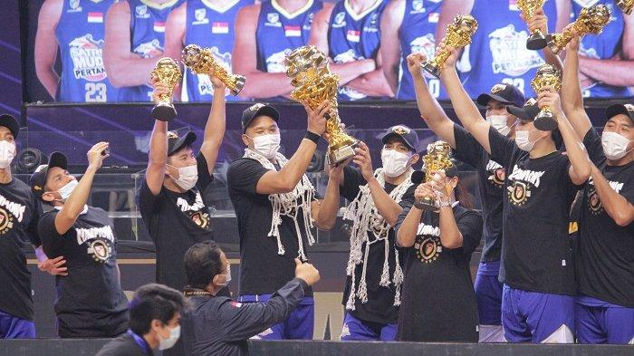 Satria Muda Juara IBL Pertamax 2021, Taklukkan Pelita Jaya 2-1 di Best Of Three