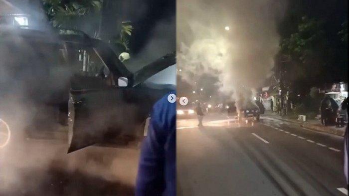 Mobil Land Rover Terbakar di Kolong Flyover Pesanggrahan, Begini Cerita Saksi Mata