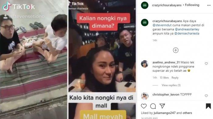 Video, Sebut Dirinya Orang Kaya Nongkrongnya di Mal, Wanita ini Disindir Telak Crazy Rich Surabaya