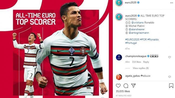Ronaldo Cetak Sejumlah Rekor Piala Eropa, Messi Keseret Trending dengan Rekor Gol Free Kicknya