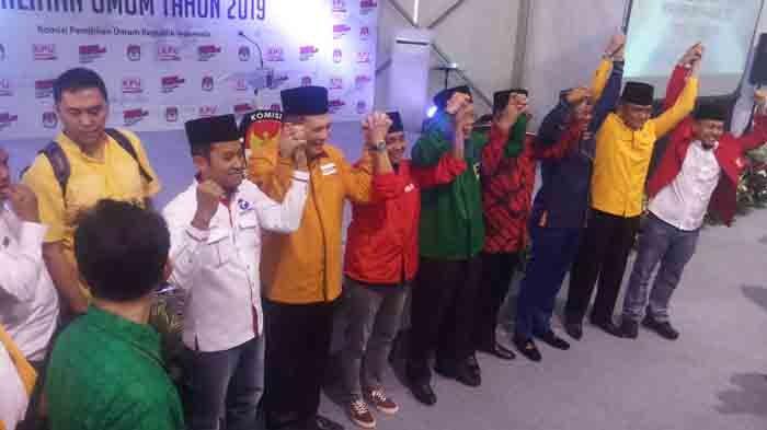 Persiapan Pendaftaran, Sembilan Sekjen Parpol Pendukung Jokowi Temui Komisioner KPU