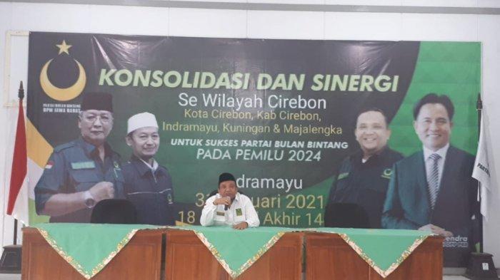 Sekjen Partai Bulan Bintang (PBB), Afriansyah Noor mengucapkan selamat hari lahir ke-95 untuk Nahdlatul Ulama (NU), saat menghadiri kegiatan Konsolidasi PBB se-wilayah Cirebon, hari ini. Minggu (31/1/2021).