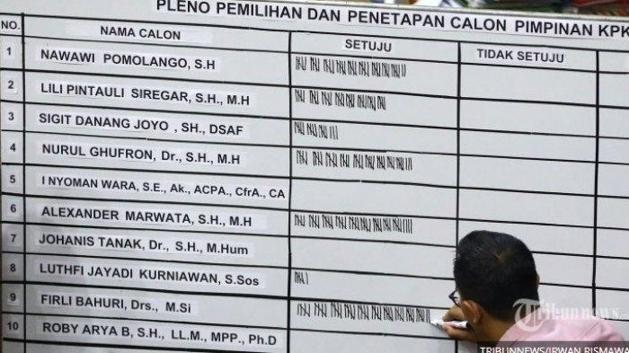 Ini Profil Lima Pimpinan KPK Terpilih Periode 2019-2023, Irjen Firli Bahuri Malah Jadi Ketua KPK