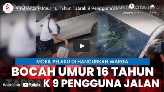 VIDEO Anak 16 Tahun Diduga Mencuri Mobil Saudaranya Sendiri, Tabrak 9 Pengguna Jalan Saat Kabur