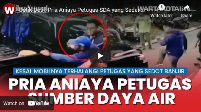 VIDEO Warga Aniaya Anggota Sudin SDA Jakarta Timur, Kesal Mobilnya Terhalang Pompa Sedot Banjir