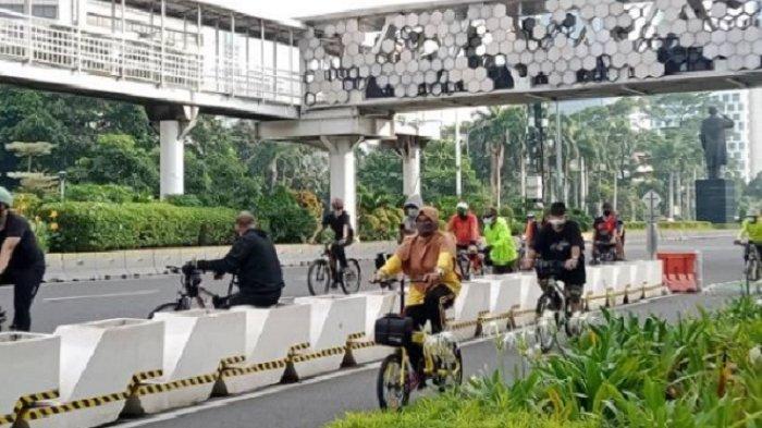 Polda Metro Imbau Pesepeda di Sudirman-Thamrin Tidak Keluar dari Jalur yang Sudah Disediakan