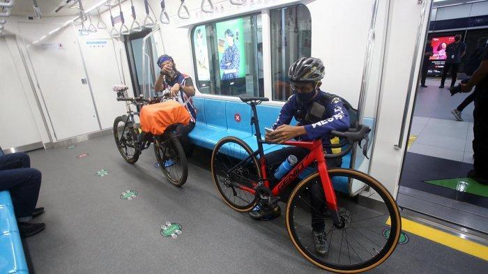 FOTO : Mantul ! Mulai Rabu Sepeda Nonlipat Bisa Masuk Gerbong MRT Jakarta