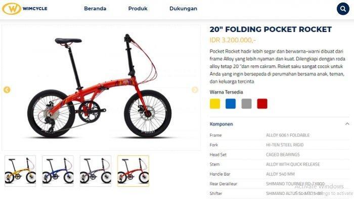 Sepeda Lipat Pocket Rocket Diproduksi Kembali Harganya Cuma Rp 3 2 Juta Tapi Sudah Alloy Dan Cakram Warta Kota