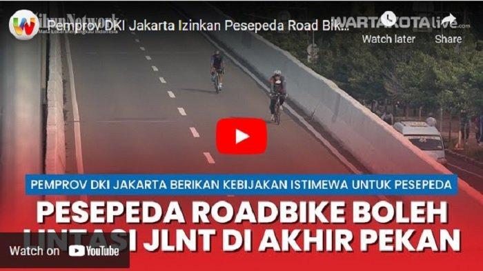 Pengguna Jalur Roadbike JLNT Kampung Melayu-Tanah Abang Meningkat Menjadi 4.005 Pesepeda