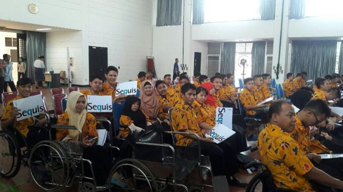Dukung OJK, Sequis Sosialisasikan Manfaat Asuransi ke Siswa Balai Rehab Bina Daksa