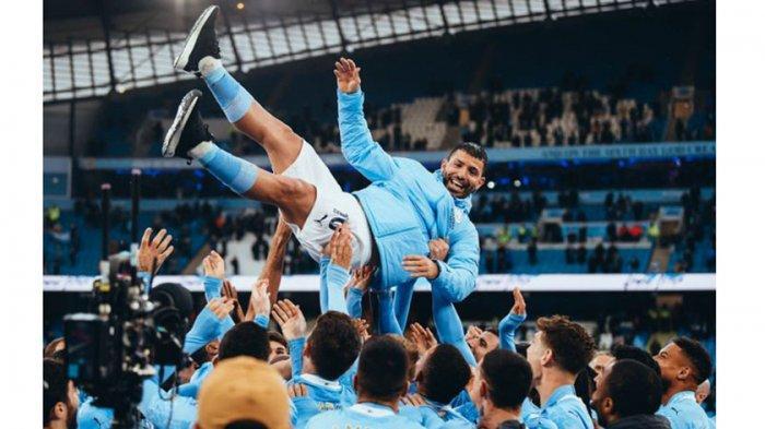 Salam Perpisahan, Aguero Bagi-Bagi Jam Mahal dan Undian Mobil Mewah untuk Staf di Manchester City