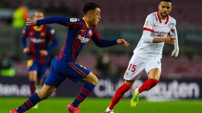 Hasil Babak Pertama Barcelona vs Sevilla 1-0, Gol Ousmane Dembele yang Bikin Bengong Kiper Sevilla
